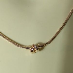 Sterling Silver Rose Gold Plated Knot Necklace